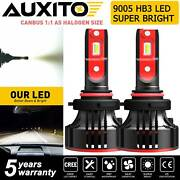 Auxito A8 Series Kit Of Hb3 9005 Led Headlight Bulb High Beam White Autoparts-4