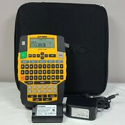 Dymo Rhino 4200 Label Maker + Oem Li-ion 7.4v Battery Case And Power Cord Tested