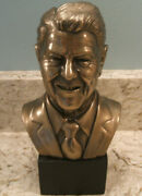 President Ronald Reagan Head Bust Bronze Look Summit Collection, 9.5 In. Tall