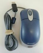 Lot Of 5 Microsoft Wired Usb Optical Mouse - Blue Teal Tested X08-72983 L4