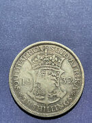 South Africa 2 And1/2 Shillings, 1932 Silver 14.14 G 0.34 Oz, Start Auction Melt