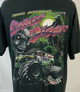 Vintage Grave Digger T Shirt Single Stitch Promo Tee Monster Truck 90s Large