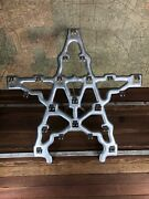 Vintage Christmas Cast Iron Star For Lights. 1940s. Outdoor. Very Rare