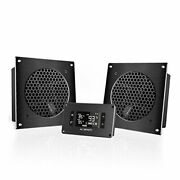 Airplate T8, Quiet Cooling Dual-fan System 6 With Thermostat Control, For