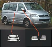 Vw T5 Transporter 2003-2010 Chrome Mirror Coverlhd And Door Handle Cover S.steel