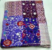 Indian Handmade Queen Twin King Size Quilt Heavy Embroidered Patch Quilt Quilts