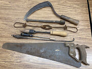 7 Vintage Tools Typically Found In An Old Country Farm/homestead - Cleanup Sale