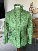 Barbour Flyweight Cavalry Jacket Green Size 12 Rrp Andpound129
