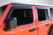 Wade Automotive Products 4 Piece Tape-on Wind Deflectors For 2018 Jeep Wrangl...
