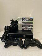 Microsoft Xbox 360 Slim 250gb Console 1439 Bundle With 2 Controller And 11 Games