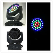 2pc/lot Led Zoom Moving Head 36pc 18w Rgbwauv 3 Circle Color Control Zoom+case