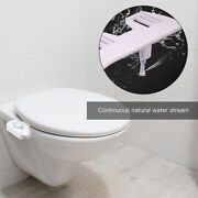 Toilet Seat Ring Attachment Water Spraying Spout Kit Water Flow Control