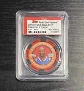 2005-06 Topps Vault First Edition Shaquille Oand039neal Shaq 1 Of 1 Nba Chip Psa 1/1