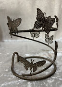 Scentsy Wrap Butterfly Full Size Discontinued Retired Nib Silhouette Core Metal