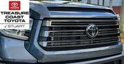 New Oem Toyota Tundra 18-21 Nightshade Grille And Hood Bulge Mag Gray And 1g3 Emblem