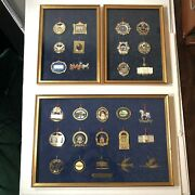 White House Christmas Ornaments Framed Collection 1981-2007 3 Shadowbox Frames
