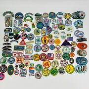 Huge Lot Vtg 70s - 2000s Girl Scout Lot Of 147 Patches Event Fun Cookie Camp