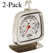Cdn Stainless Steel Oven Thermometer, 100℉ To 600℉, Model Eot1 Pack Of 2