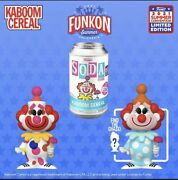 Funkon 2021 Funko Soda Ad Icons - Kaboom Cereal Chance For Chase Le 3000