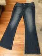 White House Black Market Womens Jeans Size 12r Blanc Live With Passion Flare