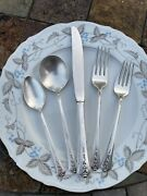 Holmes Edwards Inlaid Silverplated Flatware Set Of 12