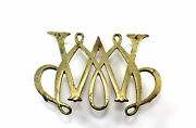 Vintage Brass Williamsburg William And Mary Cypher Trivet