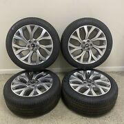 Set Of 4 Genuine Range Rover Flute 21andrdquo Alloy Wheels And Tyres Lr098798