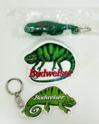 Vintage 90's Budweiser Beer - Louie The Lizard - Bottle Opener, Keychain And Pin