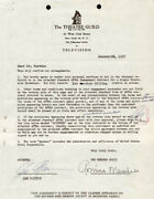 Lee Marvin - Contract Signed 01/10/1957