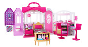 Barbie Glam Getaway Doll House Furnished On-the-go Carrying Handle