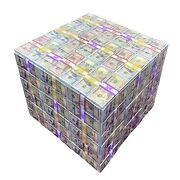 Mix Stash Money Cube Side End Table Home, Office, Bars, Lobbies, Lounge
