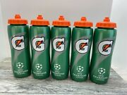 Gatorade Squeeze Sports Water Bottle Soccer Champions League 32 Oz Lot Of 5