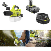 Cordless Chemical Fogger Mister Insect Sprayer Portable W/ Battery And Charger