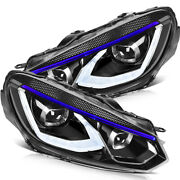 For 2010-2014 Volkswagen Golf 6 Headlights Led Lamp Front Factory Style One Pair