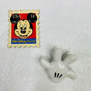 2 Vtg Walt Disney World Mickey Mouse Refrigerator Magnets 1 Cent Stamp And Glove