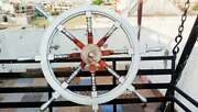 Wooden Ship Boat Nautical Wheel 36 Wide Maritime Navy Boat Ship Home Decoration
