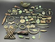 Old Ancient Roman Byzantine Bronze Artifacts Antiquities Collectables Mix Lot