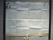 Indenture On Vellum Dated 1661 Charles Ii Re Land At Little Ravely, Hunts.