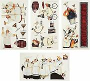 Italian Fat Chefs Wall Decals Kitchen Chef Stickers Cooking Cafe Decorations