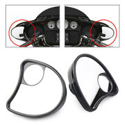 Rear Wide Angle Blind Spot Mirror Fairing Mount Side For Touring Electra Glide