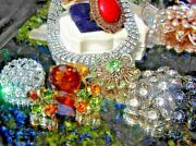 Huge High End Vintage Rhinestone Costume Jewelry Lot Signed Bling 100+ Pcs