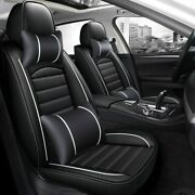 Leather Car Seat 5 Covers Full Set Waterproof Universal Auto Cover Front Rear