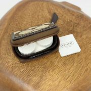 Coach Signature Travel Contact Lens Case With Mirror F61877 Nwt Brown Logo