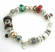 Amazing Authentic Loaded Pandora Bracelet 26 Charms Sterling Silver Ale Retired