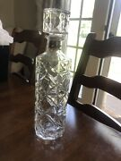 Vintage Whiskey Decanters Cut Glass Beveled