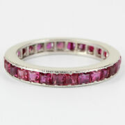 Vintage Platinum And Ruby Eternity Band Ring