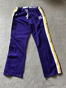 Lakers Game Warmup Pants Purple Sand Knit 80's Vintage Showtime