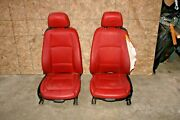 Convertible Red Leather Seat Set Front Seats Oem Bmw E88 128i 135i