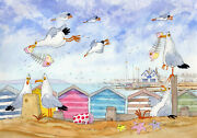 Loving Whitstable A Ready To Frame Print From A Watercolour By David Bailey