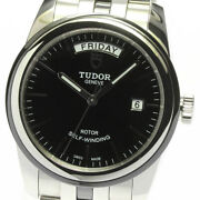 Tudor Glamor Date Day 56010n Black Dial Automatic Menand039s Watch_625776